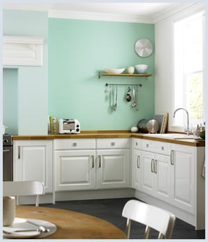 Kitchen 1 cool aqua for Kitchen colors with white cabinets with john lennon wall art