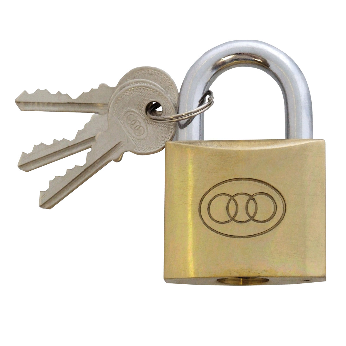 Tri Circle 50mm Solid Brass Padlock Hardware Heaven