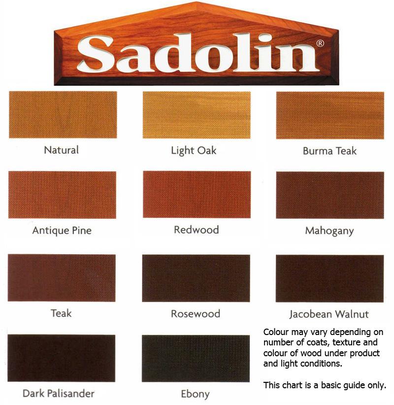 Car Paint Colours Chart >> Sadolin Extra 500ml – Hardware Heaven