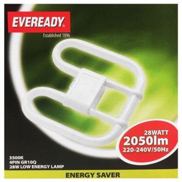 Eveready 28w 4 Pin Energy Saving 2d Lamp 240v Hardware Heaven