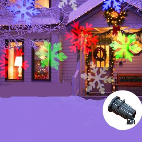 Christmas Projector.Multi Coloured Outdoor Christmas Projector With 5 Unique Designs Festive Display