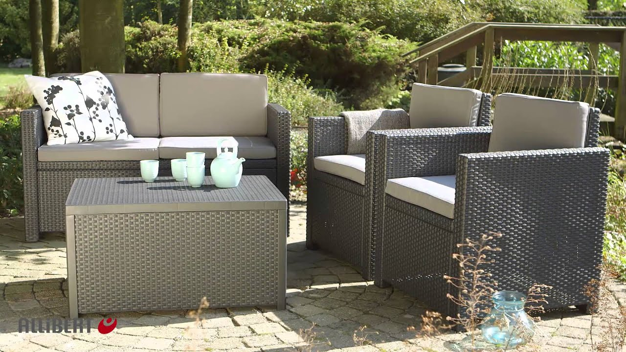 Keter Armona Garden Furniture Set Including Storage Table